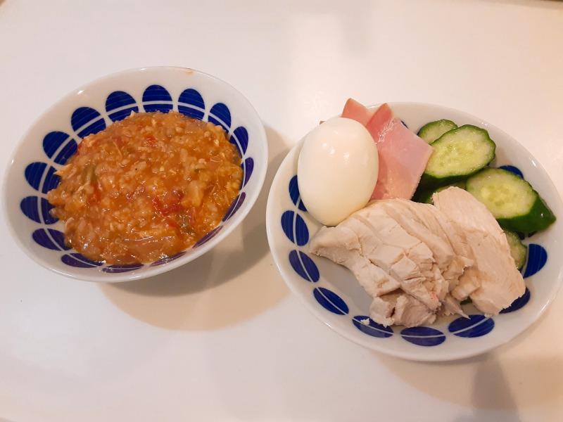 5合炊きの炊飯器で減量食「マグマ」を作りました。米1合